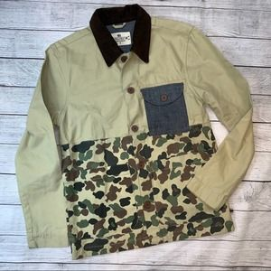 Bellfield Clothing Camo & Tan Worker Jacket Small